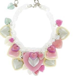 Tarina Tarantino pastel charm heart necklace